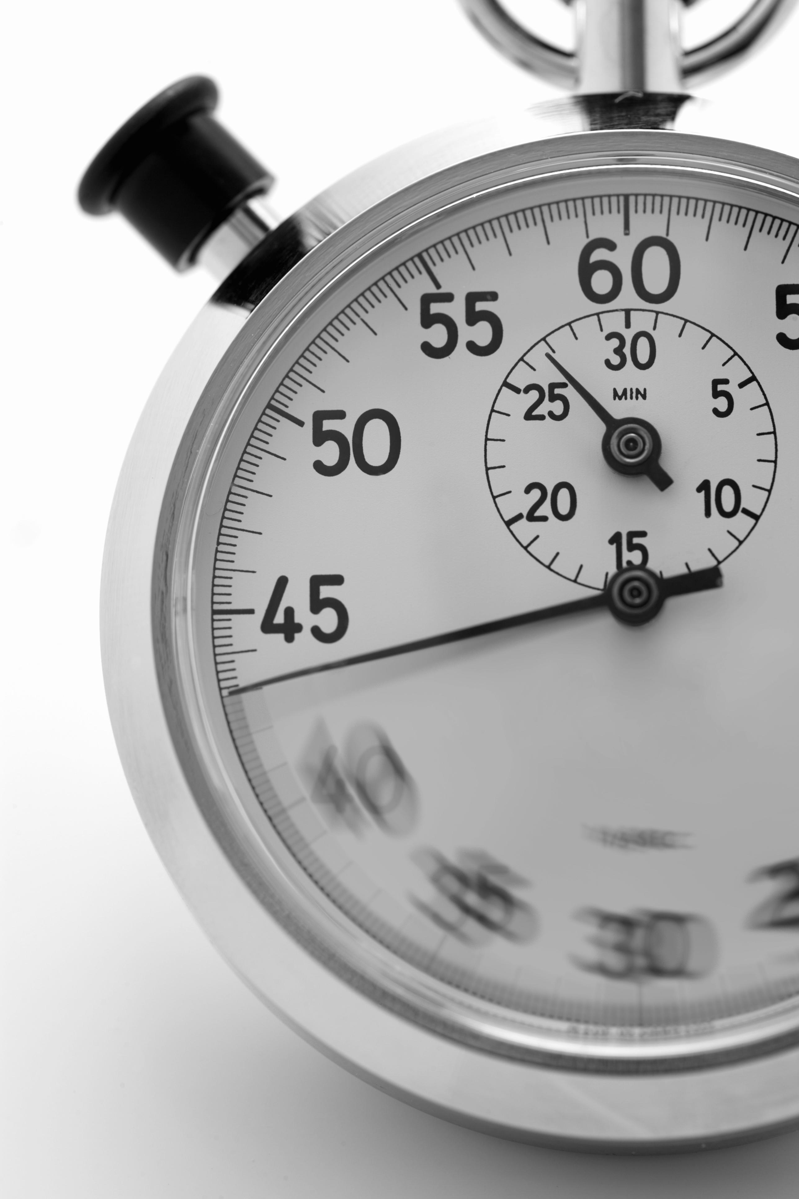 close up of stopwatch